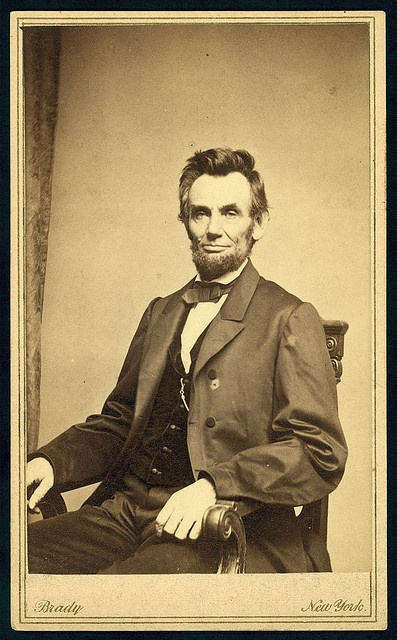 [Abraham Lincoln, U.S. President. Seated portrait, facing front, January 8, 1864] (LOC)