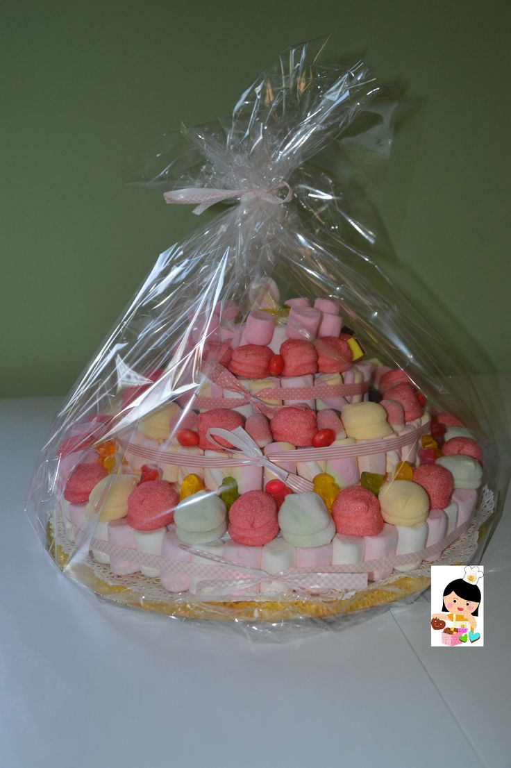 Torta di marshmallows - Marshmallows and candies cake