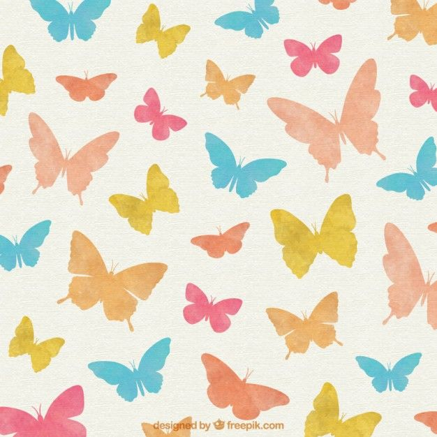 Free vector Colorful Butterflies background #2601