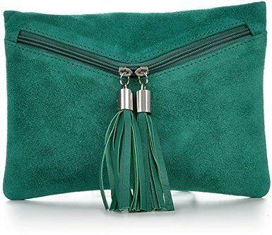 CNTMP - bolso para señora, clutches, clutch, bolsos de mano, bolsas de noche, bolsas de fiesta, bolsos de tendencia, gamuza, ante,flecos,bolso de cuero, 23 x 16, 5x1cm (l x an x a), color: naranja: Amazon.es: Zapatos y complementos