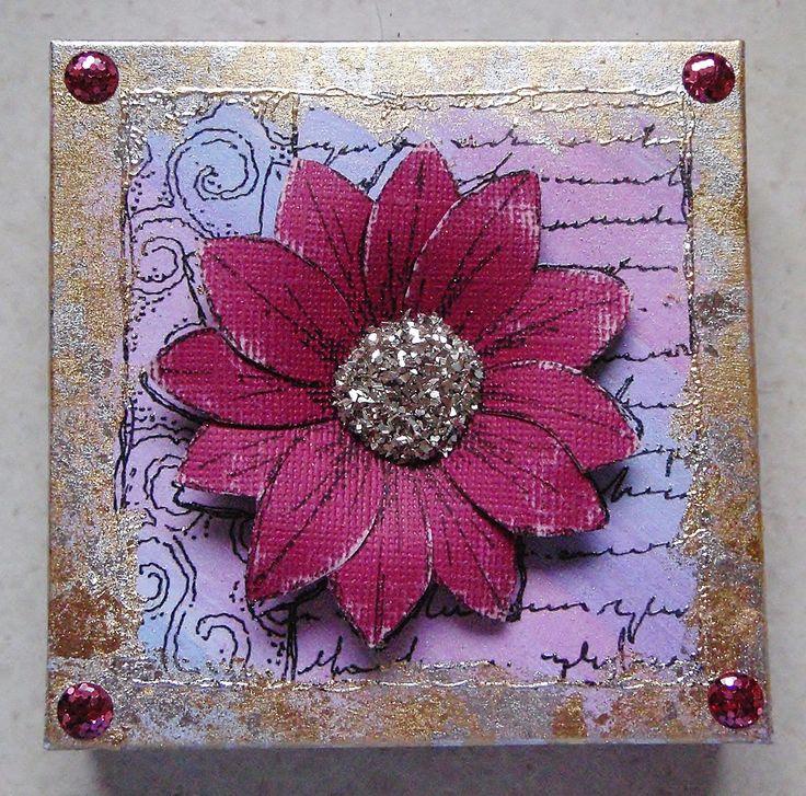 Gift box using decoupage stamp set