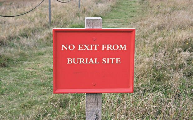 No Exit From Burial Site - Telegraph Sign Language
