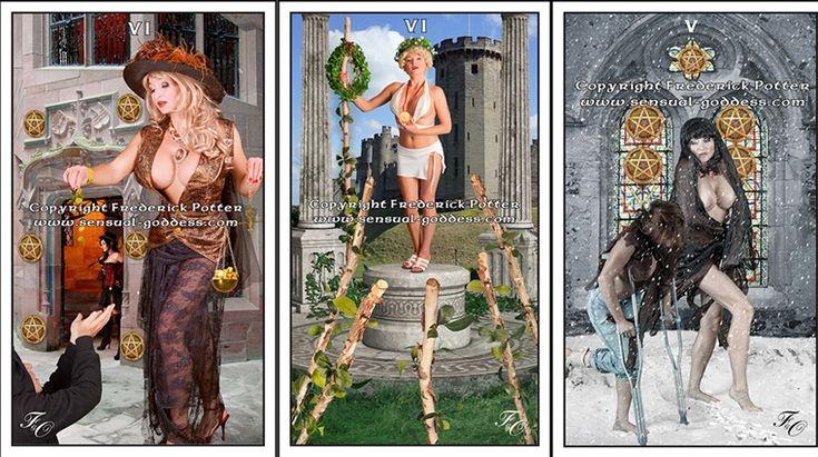 Tarot Sensual Goddess, un tarot muy gráfico que combina la fotografía real y el arte digital, con una marcada nota de erotismo y sensualidad realmente bello. En latiendadeltarot.com