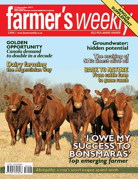 "15 November 2013 - ""I owe my success to Bonsmaras"" - top emerging farmer."