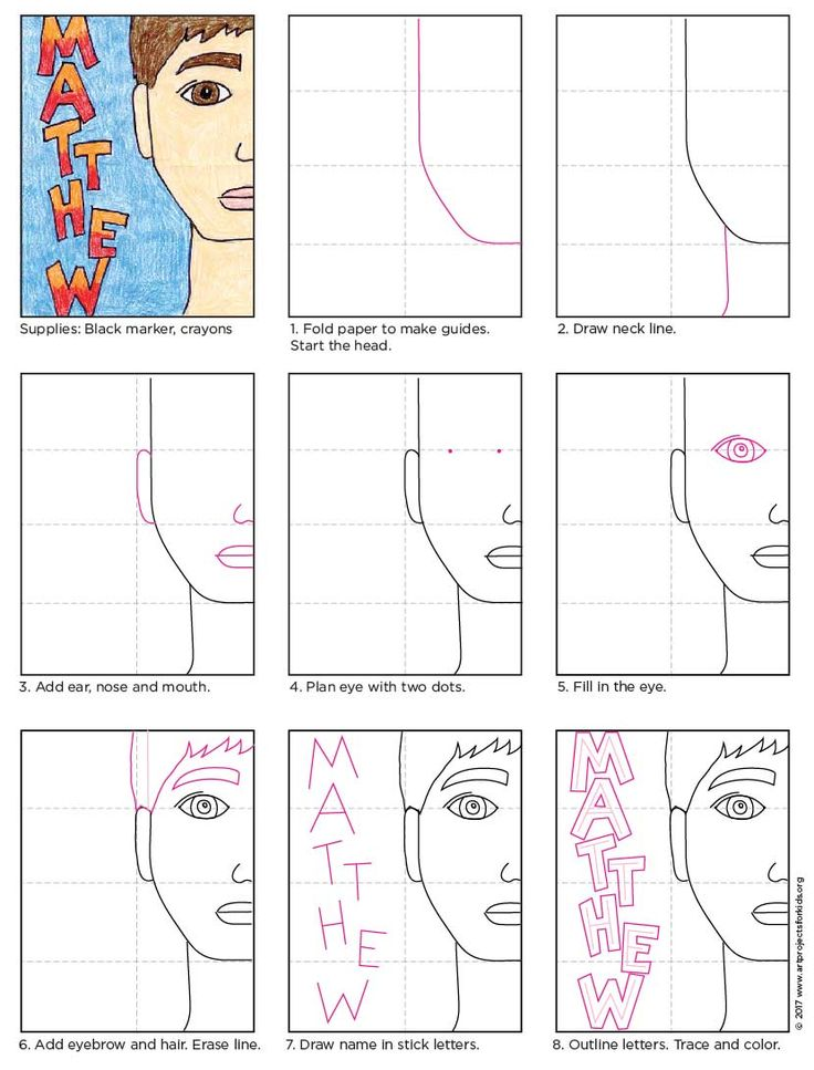 Half Portrait Tutorial. One of my most pinned projects, now available in PDF form. Great classroom project. #directdraw #howtodraw