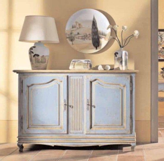 17 migliori idee su decorare una credenza su pinterest - Dipingere cucina legno ...