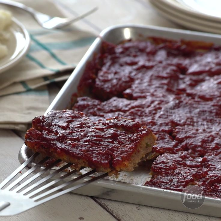 Recipe of the Day: Sheet Pan Glazed Meatloaf Cooking meatloaf in a sheet pan cuts down the cooking time dramatically, making this a perfect weeknight dinner. Shaping it thin and flat ensures that you get enough sticky-sweet glaze in every bite.