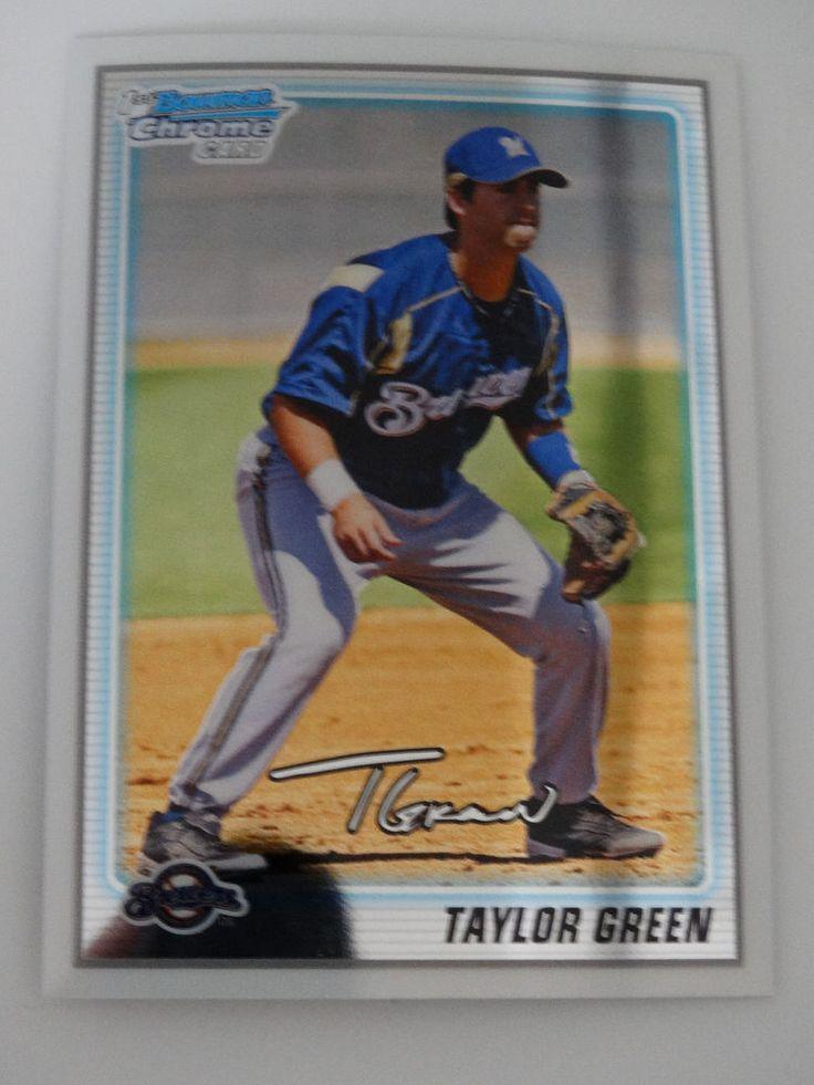 2010 Bowman Chrome #BCP158 Taylor Green Milwaukee Brewers Rookie Baseball Card #BowmanChrome #MilwaukeeBrewers