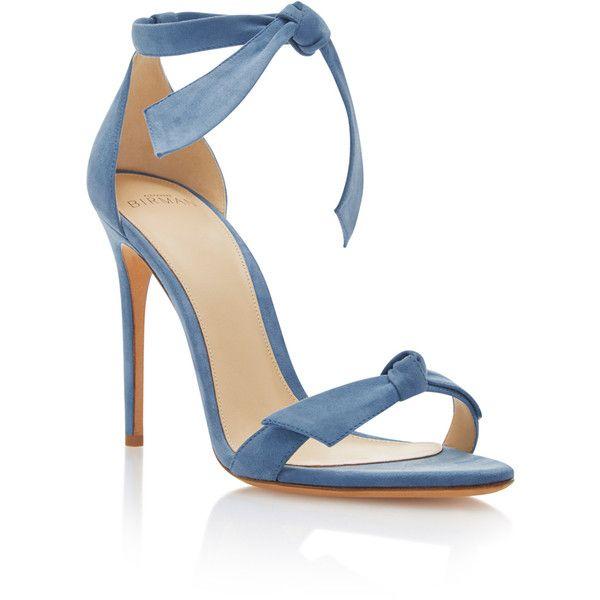 Alexandre Birman Clarita Suede Sandals (€555) via Polyvore featuring shoes, sandals, blue, blue suede sandals, alexandre birman sandals, blue shoes, alexandre birman and suede shoes