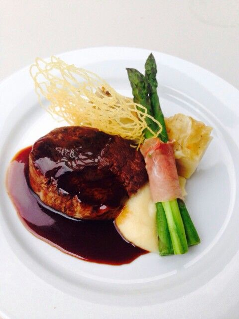 Fillet of Beef, Parsnip puree, Potato Galette, Balsamic Jus. Monkey Place Catering. Hunter Valley weddings, #huntervalleycatering