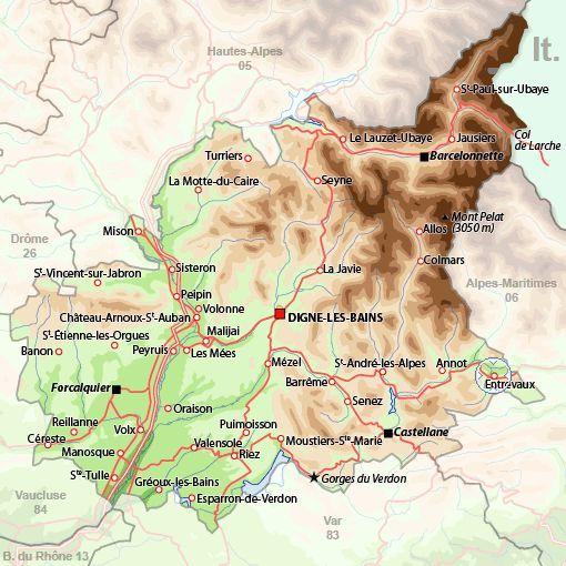 Alpes de Haute, Provence, France  Sisteron, Gorges du Verdon, Digney le Bains, St. Tulle, Banon, Entrevaux, Barcellonette, Colmars, Le MeesSt. Bain sur Ubaye