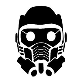 5e801cba9 Guardians of the Galaxy - Star Lord Mask Stencil | GOTG dog costumes ...