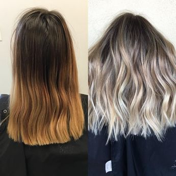 """Becky Miller on Instagram: """"Before   after with the help of @olaplex @habitsalon"""""""