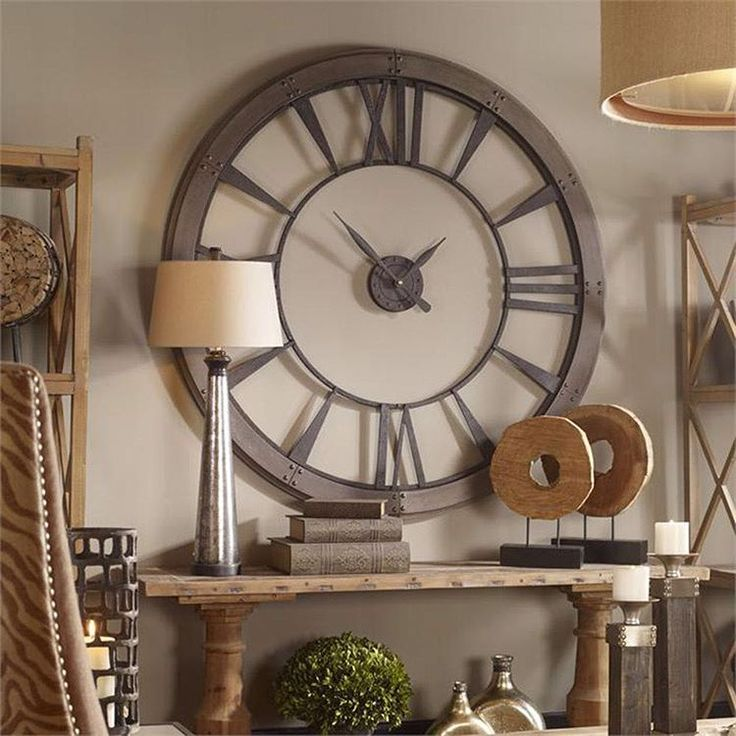 An oversize clock can really make a big statement  #office #officedecor #officedesign #clock #interiordesign #decor #officestyle