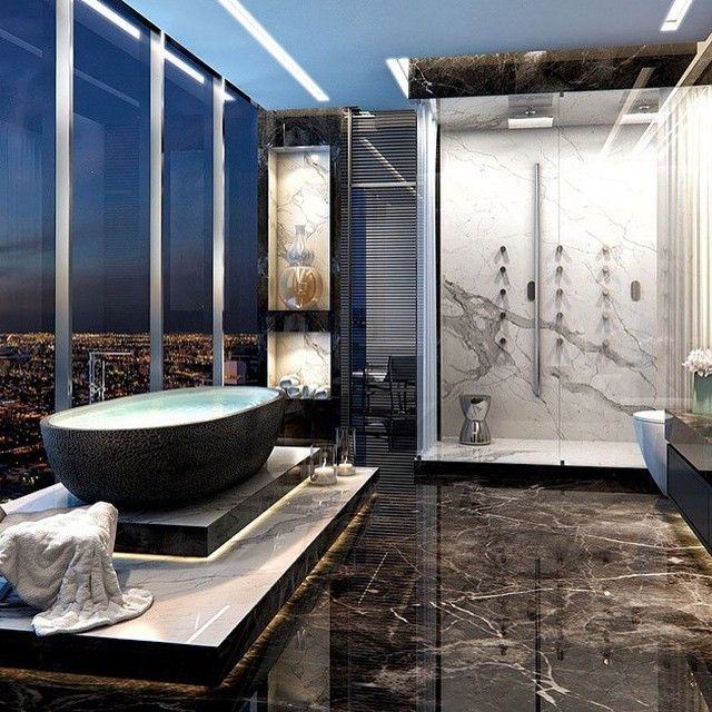 Luxurious Bathroom in Miami Check out @classysavant for more!