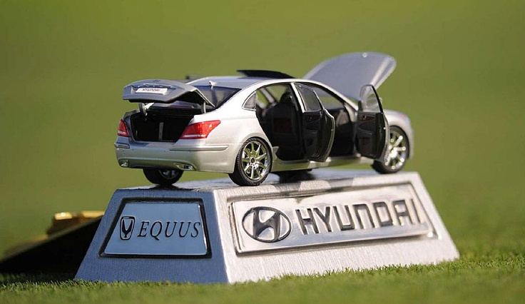 These Hyundai Equus replicas at last year's Honda Classic were rumored to have cost a thousand dollars each.