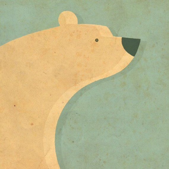 Polar bear: would be cute as a print in a child's room.
