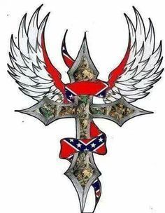 Rebel Flag Tattoos on Pinterest | Rebel Tattoo Flower Side Tattoos ...