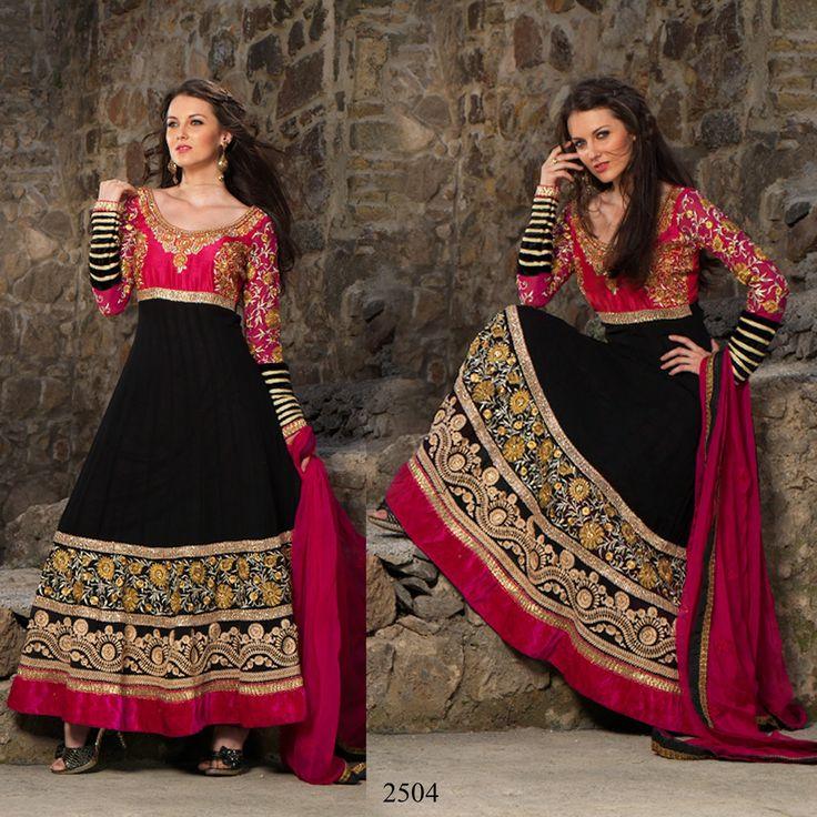 Black Anarkali Dresses 2014 in America (2)