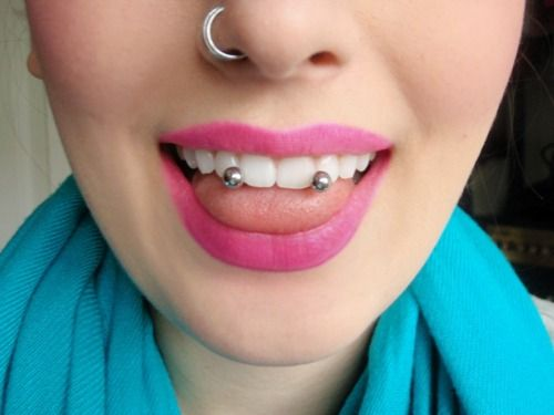 venom piercing! Horrible idea for me, I hear the swelling at first is crazy, but I want it!!