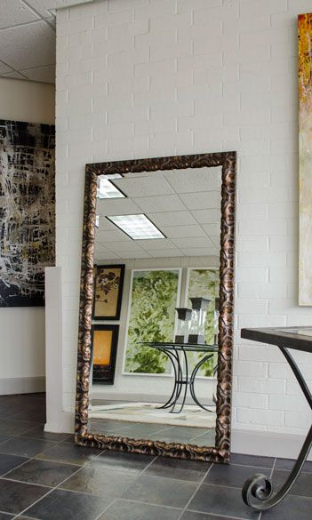 Large floor mirror with unique frame mirrors pinterest for Gold frame floor mirror