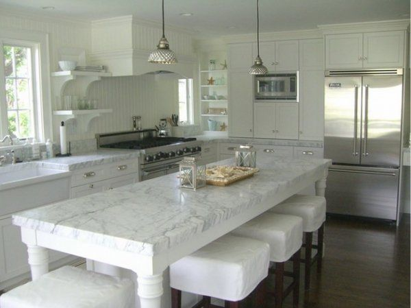 Super White Granite Countertop Ideas Contemporary Kitchen Design White Bar  Stools Farmhouse Sink