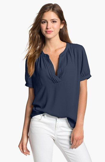 This blouse would show off all my cut new stella & dot jewelry!