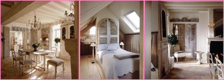 Incantati davanti la bellezza della villa Maison Laffitte. E' un vero paradiso dello shabby!