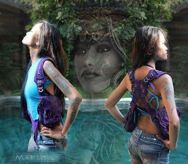 medusa shoulder holster bag for women playa wear