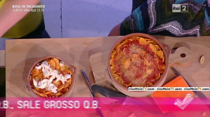 """""""Detto Fatto"""": la ricetta di un primo piatto pugliese, le orecchiette al forno di Beniamino Baleotti del 18 gennaio 2016."""