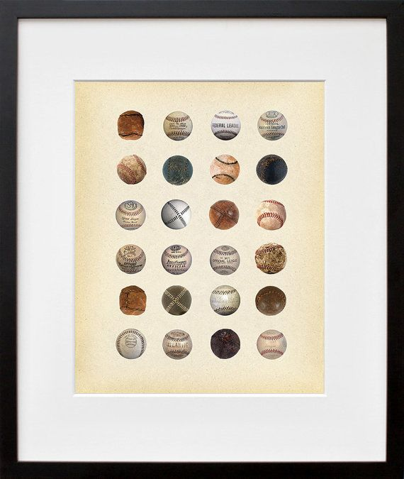 History of the Baseball  Baseballs from all Eras by PigeonEditions, $11.95-Van