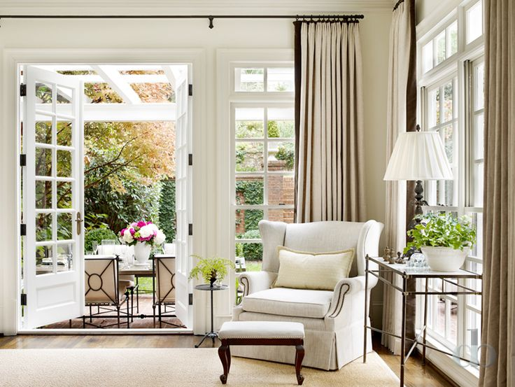 Neutral living room. Cosy nook. Hamptons style.: