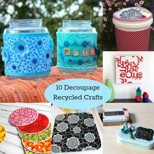 I love all these recycled craft ideas that you can make with Mod Podge!