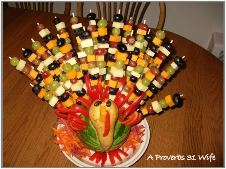 Fruit Turkey for Your Table
