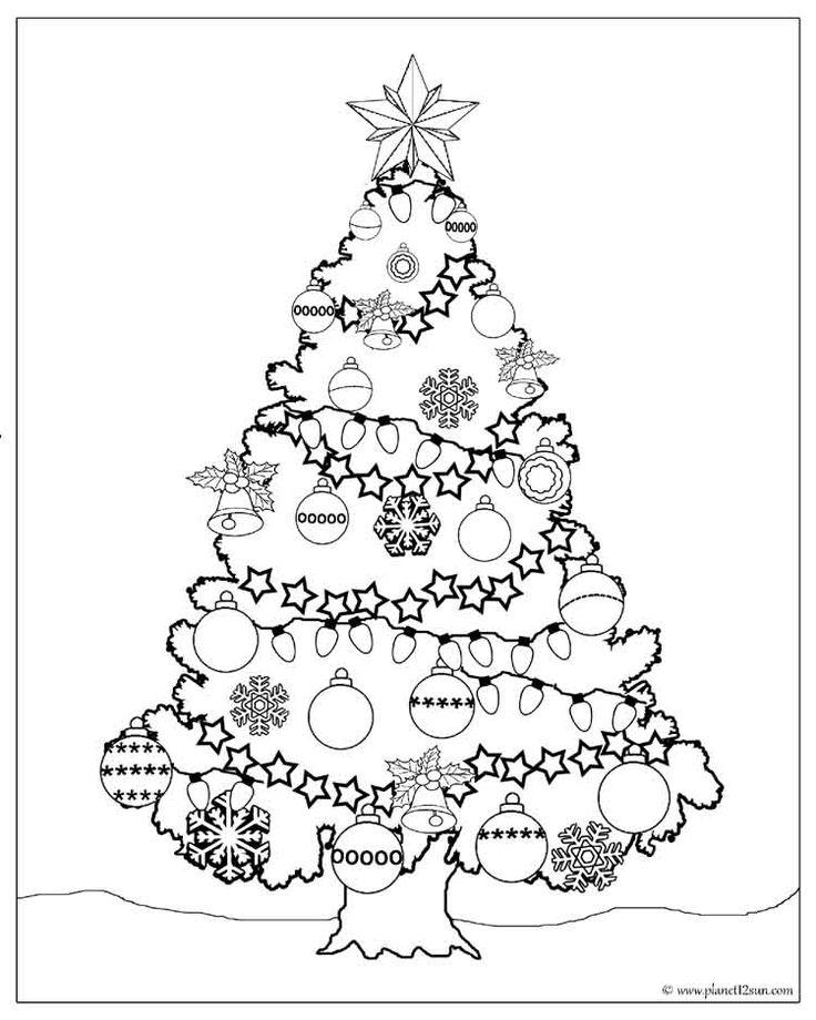 Free printable worksheet for kids. Color the Christmas
