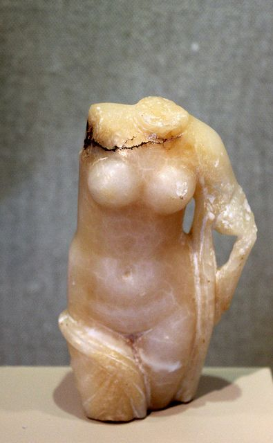 Venus (Aphrodite), torso of Roman sculpture (alabaster), 2nd-3rd century AD, (Kelsey Museum of Archaeology, Ann Arbor).