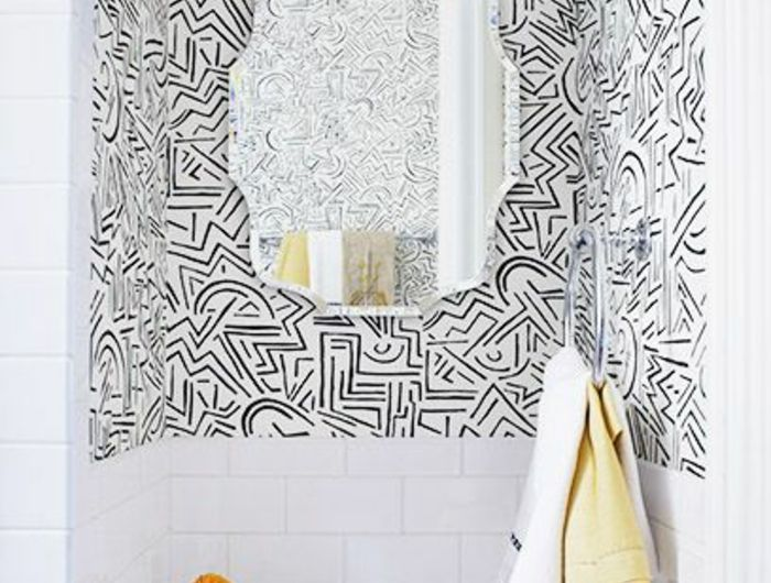 Le papier peint noir et blanc est toujours un signe d'élégance! Savourer les meilleures variantes en 40 photos!