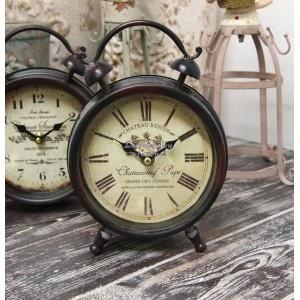 Retro Zegarek Budzik Belldeco - metalowy zegar prowansalski w kształcie budzika.