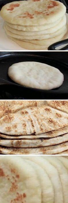 Poco Después de hacer Pan de Pita vas estar seguro, que es ¡riquísimo y sano! #comohacer #pandepita #sano #pan #panfrances #pantone #panes #pantone #pan #receta #recipe #casero #torta #tartas #pastel #nestlecocina #bizcocho #bizcochuelo #tasty #cocina #chocolate Mézcla muy bien los 3 ingredientes hasta lograr una masa uniforme pero lí...