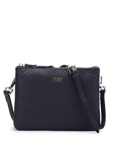 Bowie - Matilda Bag - Black Snake - Leather  $179.00