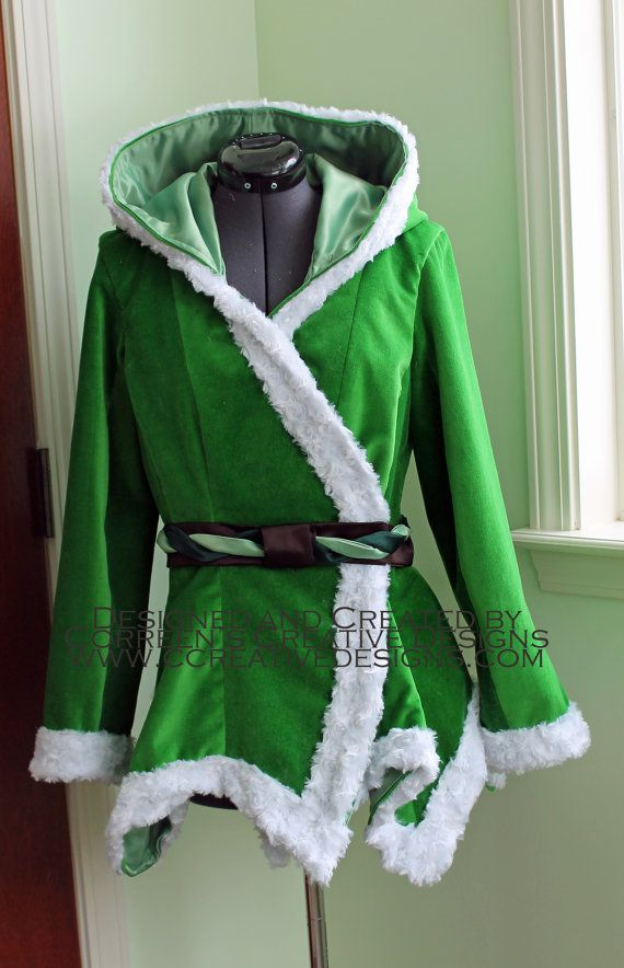 Tinkerbell Velvet Costume Coat Custom Made by correenscdesigns