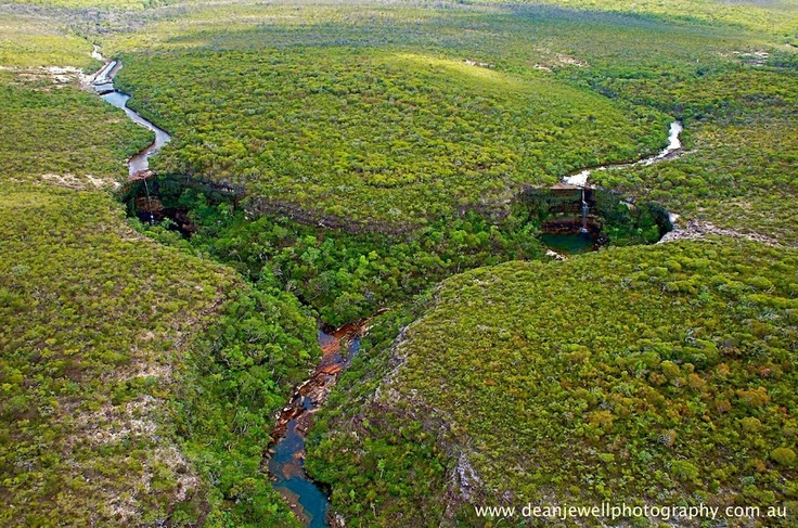 Dean Jewell Photography   A remote part of Northern Cape York, QLD    Double waterfalls!