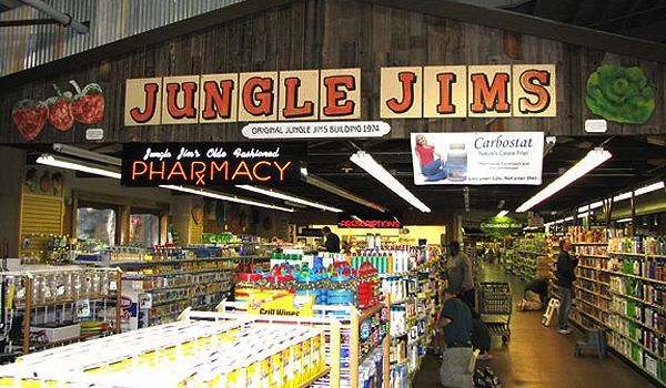 Jungle Jim's in Cincinnati, Ohio. The coolest international food market. ----- this place has a bear that is dressed like Elvis and sings his songs along with many other surprises all thru it  LOL