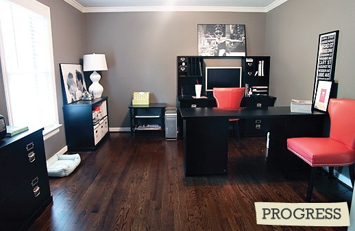 want this color gray for the bedroom: Wall Colors, Offices Design, Colors Contrast, Floors Colors, Hardwood Floors, Awesome Ideas, Offices Ideas, Awesome Offices, Offices Wall