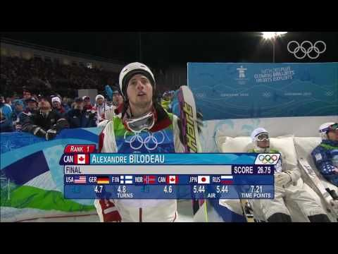 Alexandre Bilodeau - Men's Freestyle Skiing - Moguls - Vancouver 2010 Winter Olympic Games - Canada's first  Gold Medal E V E R won on Canadian soil - Vancouver soil !!!