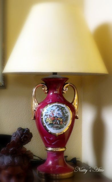 Natty S Attic Vintage George Amp Martha Washington Lamp