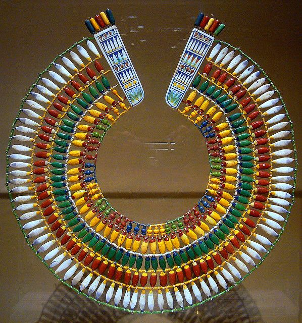 Broad Collar (ancient Egyptian necklace of faience beads) Faience beads Dynasty 18, reign of Akhenaten ca. 1353-1336 B.C.