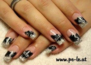 Black Fairy Magical Nail Design
