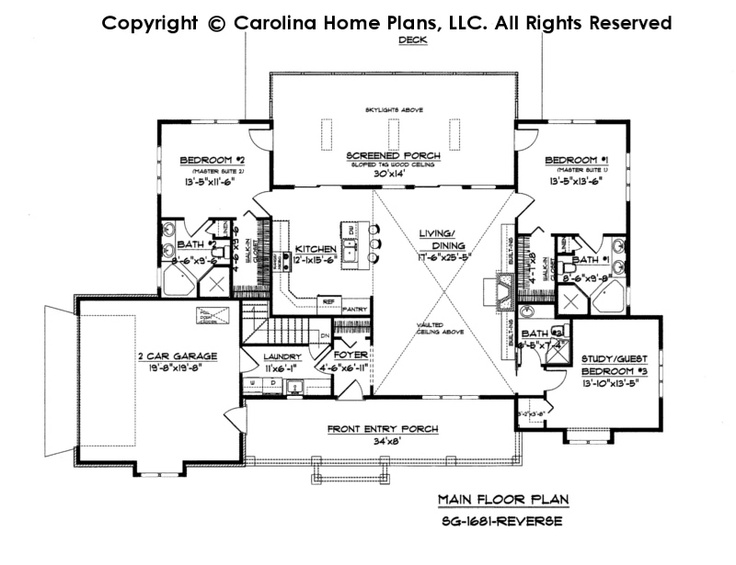 Feet 1700 Squares Country Ranch Small Home Plans House Plans