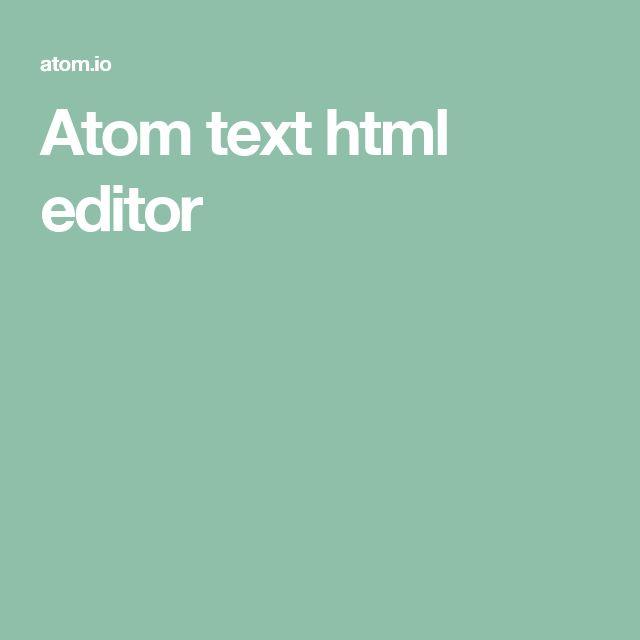 Atom text html editor